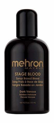 MEHRON Кровь искусственная Stage Blood - Dark Venous 4.5 oz. (Темная венозная), 133 мл