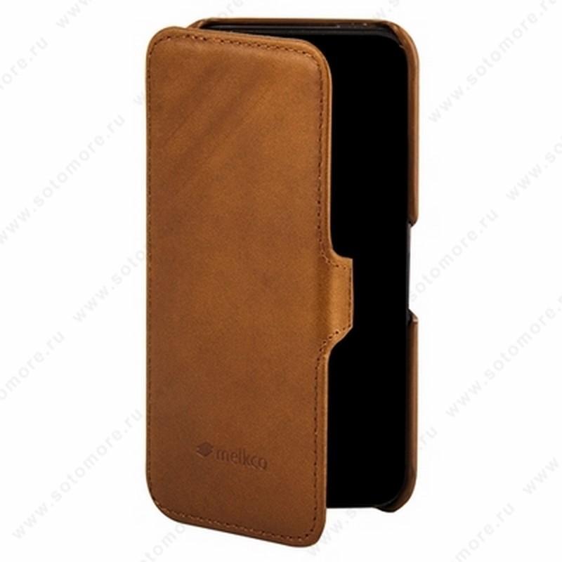 Чехол-книжка Melkco для iPhone SE/ 5s/ 5C/ 5 Leather Case Booka Type Craft Limited Edition Prime Dotta (Brown Wax Leather)