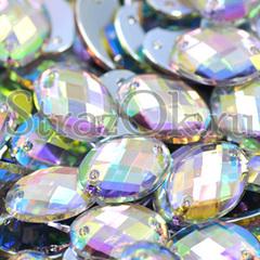 Купить стразы в интернет-магазине пришивные акрил Oval Crystal AB