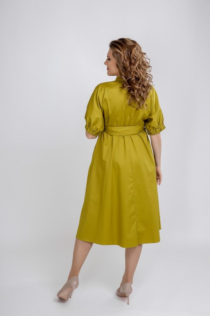 Платье 09564 оливковый