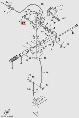 Ручка переключения передач лодочного мотора T3 SEA-PRO (11-24)
