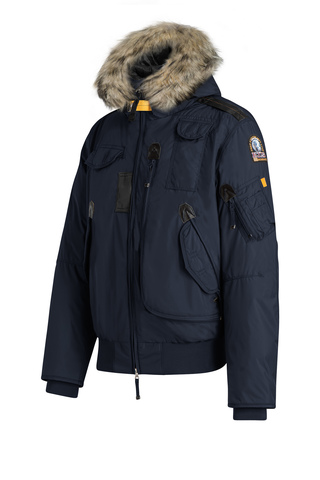 Куртка муж Parajumpers GOBI LIGHT 562 синий, капюшон енот