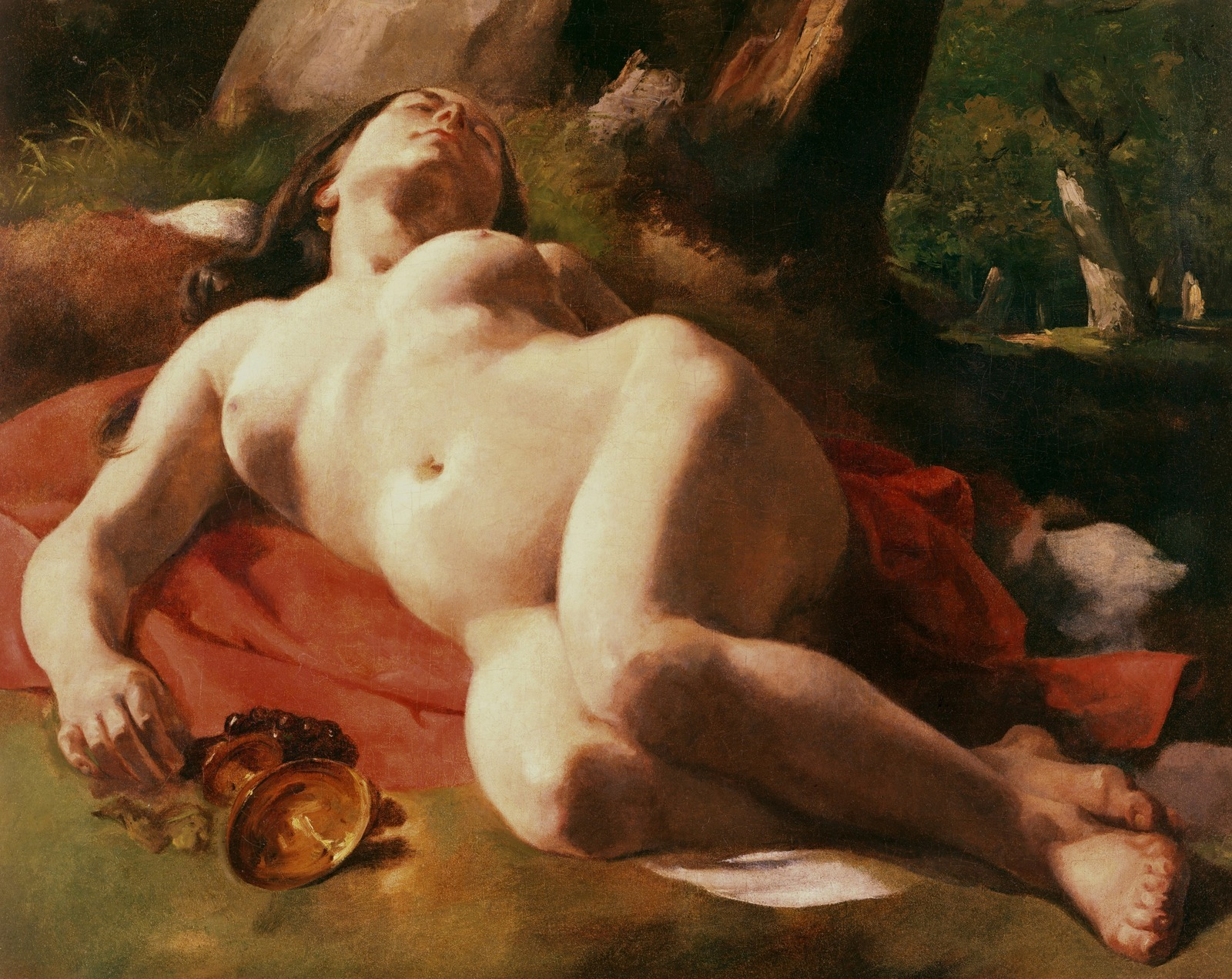 Гюстав Курбе. 1844-1847. Вакханка (La Bacchante). 76.2 x 63.4. Холст, масло. Частное собрание.