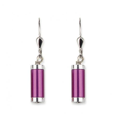 Серьги Coeur de Lion *11F цвет фиолетовый, серебряный