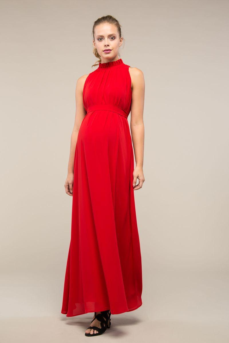 Платье для беременных 09001 красный
