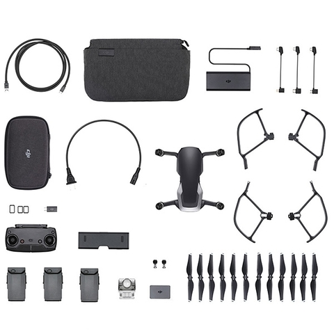 Квадрокоптер DJI Mavic Air Fly More Combo Onyx Black (Черный)
