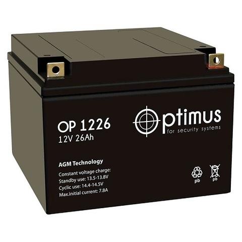 OP 1226 аккумулятор 12В/26Ач Optimus