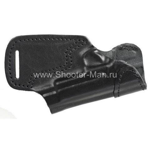 Кобура кожаная поясная для пистолета Глок 19 ( модель № 10 )