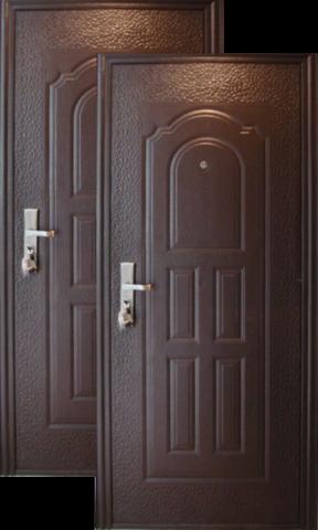 Дверь входная Сибирский стандарт C 40, 1 замок, 0,4 мм  металл, (молоток+молоток)