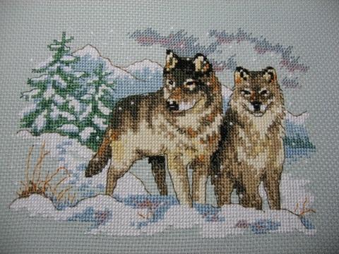 Набор для вышивания Пара волков. Арт. 1006