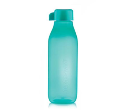 Бутылка эко квадратная в бирюзовом цвете
