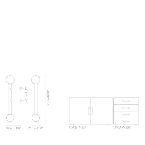 Мебельная ручка PullCast QUANTUM TW5006