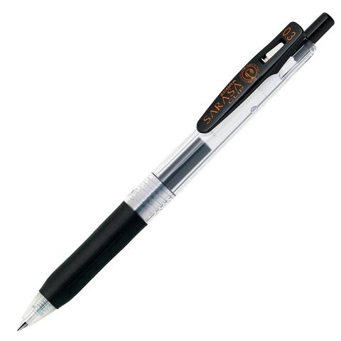 Ручка гелевая Zebra Sarasa Clip 0.3 чёрная