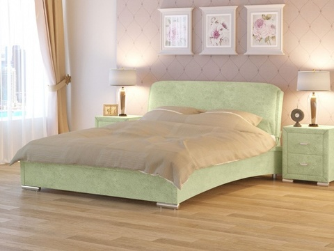 Кровать двуспальная Nuvola 4 (Нувола 4) Ткань: Лофти Олива