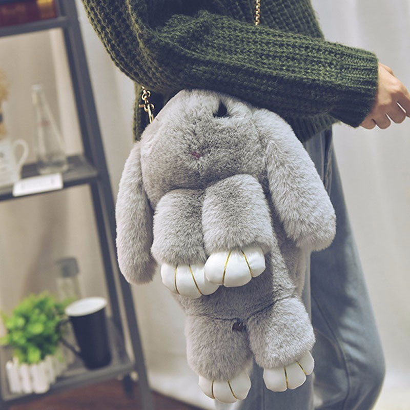 Меховая сумка зайка (кролик) из натурального меха