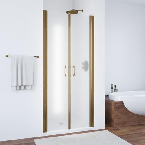 Душевая дверь в нишу Vegas Glass E2P профиль бронза, стекло сатин