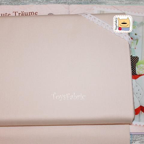 Ткань для пэчворка (однотонный бежевый) №124-10 (45х55см)
