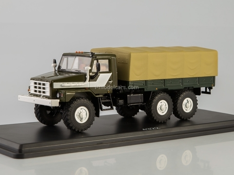Ural-43223 flatbed truck with awning khaki 1:43 Start Scale Models (SSM)