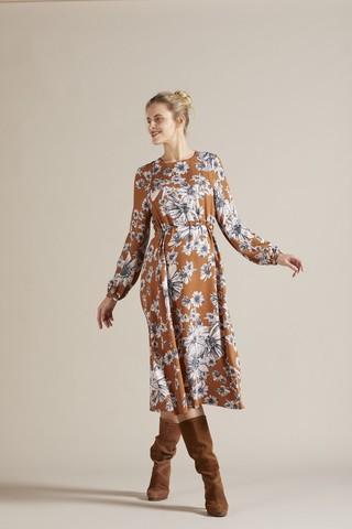 Платье 09777 принт цветы