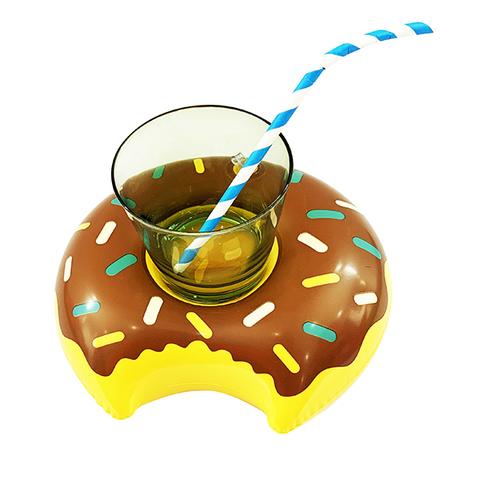 Подставка надувная Пончик шоколадный 20см