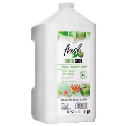 Шампунь Salerm Biokera Fresh Green Shot Shampoo, 4000 мл.