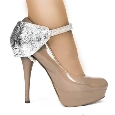 Автопятка для женской обуви на каблуке серебряная