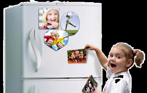 Печать фото на магните на холодильник