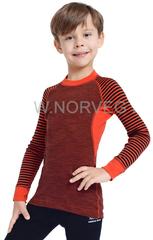 Терморубашка из шерсти мериноса Norveg Climate Control Orange детская