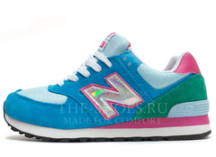 Кроссовки Женские New Balance 574 Blue Green Pink Gallo