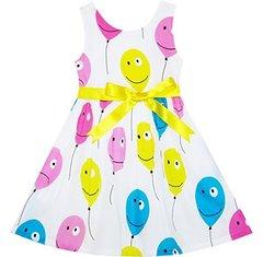 SUNNY FASHION Платье с шариками нарядное ДП64