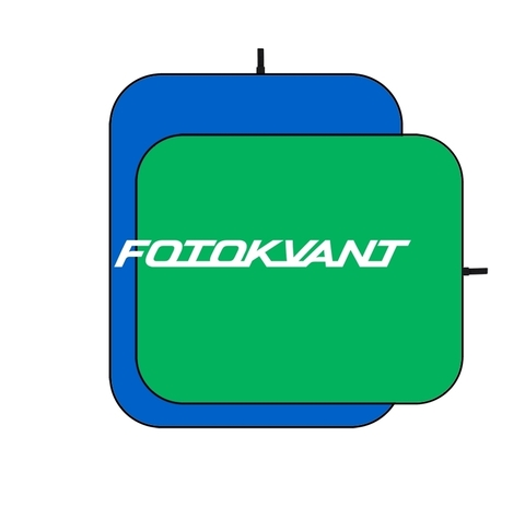 Фон тканевый складной синий-зеленый хромакей 1,5х2 м Fotokvant BG-1520 Blue Gree