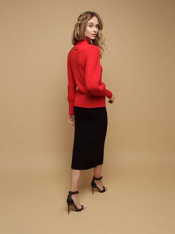 Женский джемпер красного цвета из 100% шерсти - фото 3