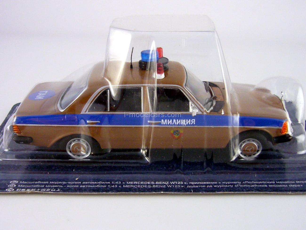 Mercedes-Benz W123 GAI Police Moscow USSR 1:43 DeAgostini World's Police Car #59