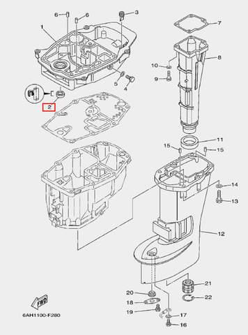 Сальник для лодочного мотора F20 Sea-PRO 12×25×6 (21-2)