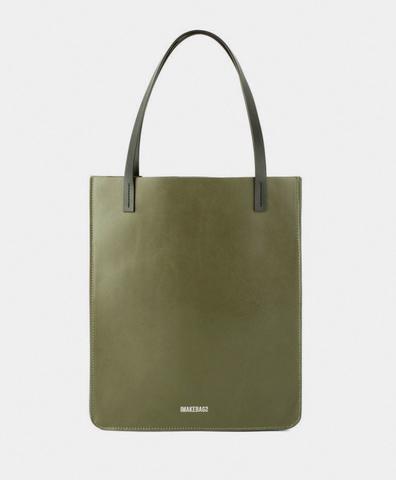 Сумка-шоппер мини цвета хаки