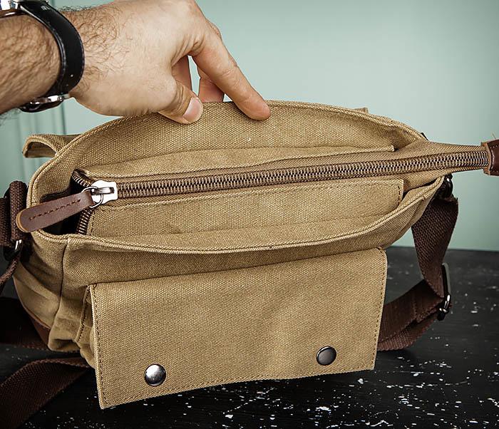 BAG503-2 Мужская сумка планшет из плотной ткани фото 11