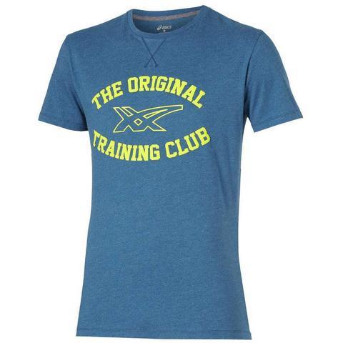 Мужская футболка Asics Graphic SS Top (125074 8125) синяя