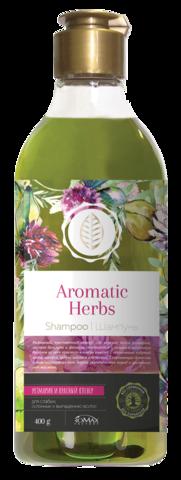 Romax Aromatic Herbs Шампунь Розмарин и Красный клевер для слабых, склонных к выпадению волос 400г