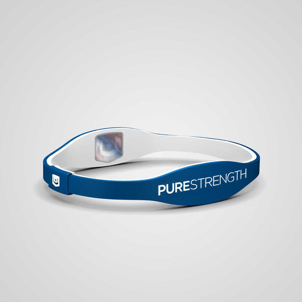 Браслет PureStrength Edge  LTE голубой/белый