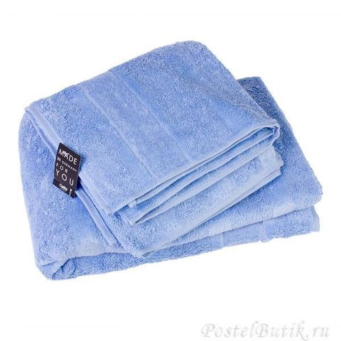 Полотенце 30x50 Cawo Noblesse 1002 голубое