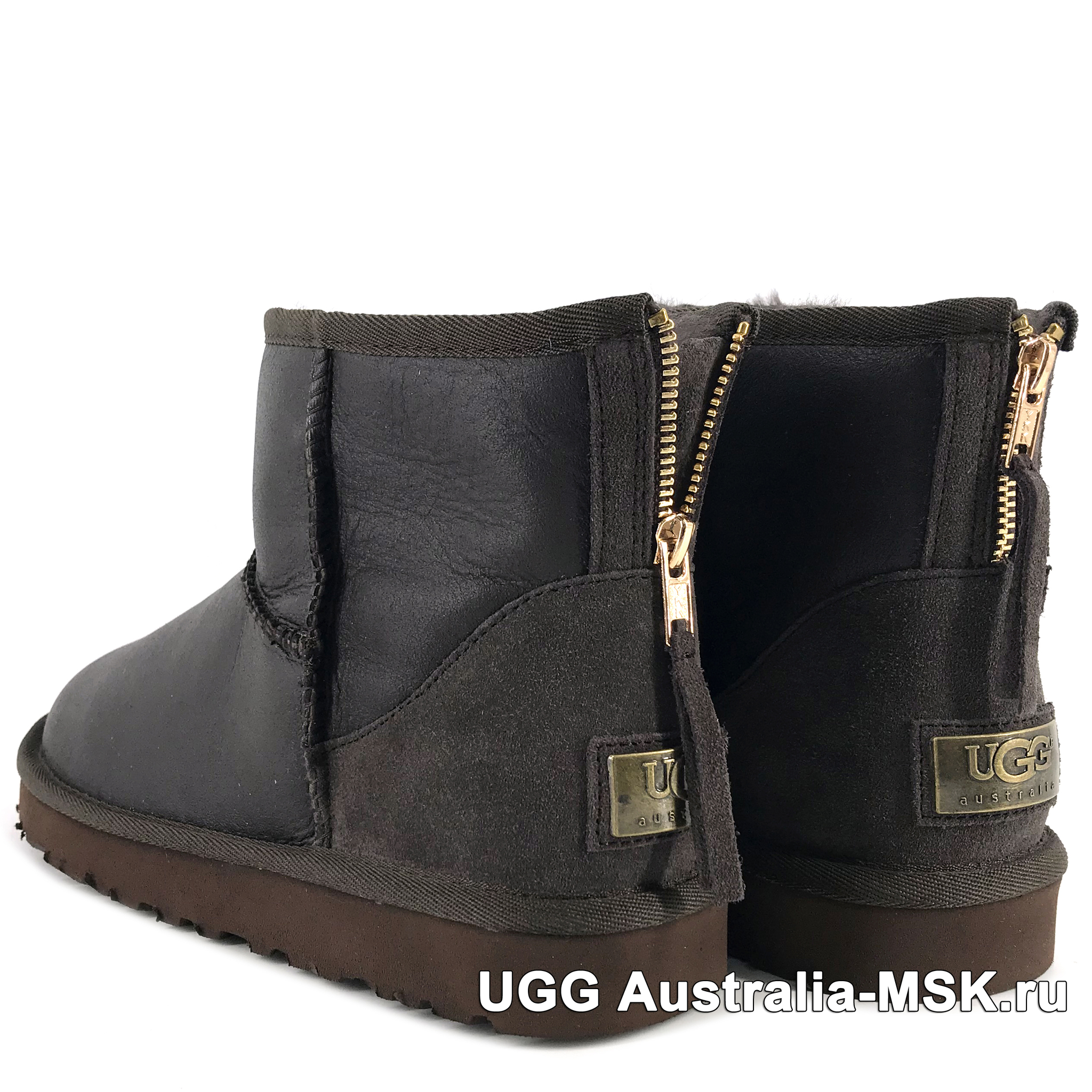 UGG Mens Zip Mini Chocolate