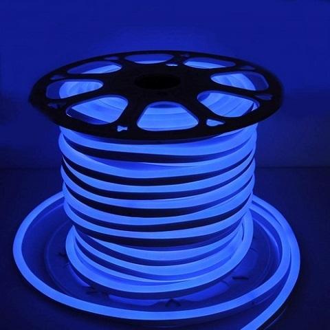 Гибкий неон Синий, SMD2835, 15х25 мм, 220В
