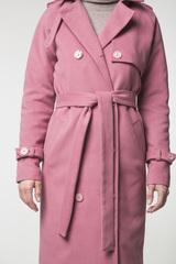 Тренч розовый