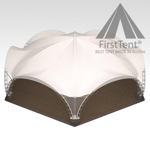 Арочный шатер 15х13 гексагональ