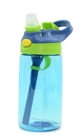 Бутылка для воды Muggs Flip Straw с трубочкой 400 мл. голубая