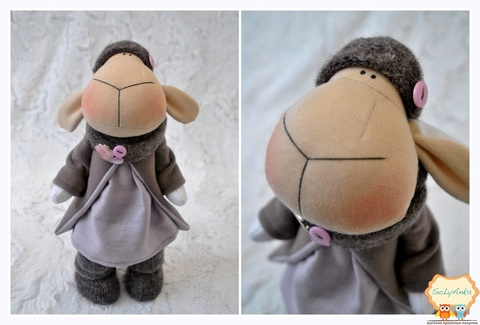 Овечка Шарлотта. Текстильная игрушка.