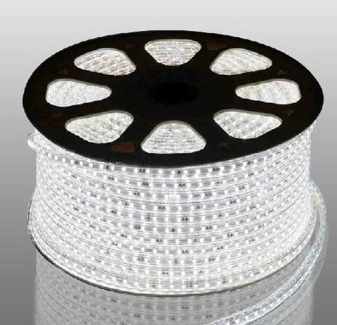 Светодиодная лента SMD5050/60, 220V влагозащищенная. Белая.
