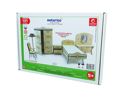 Конструктор 3D деревянный подвижный Lemmo Набор мебели спальня