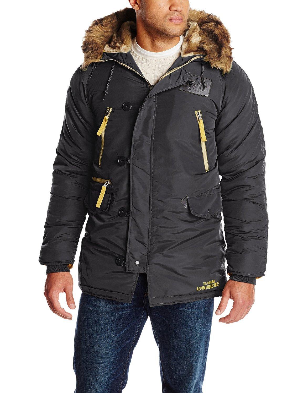 Куртка Аляска Alpha  N-3B Inclement Parka (черная - black)