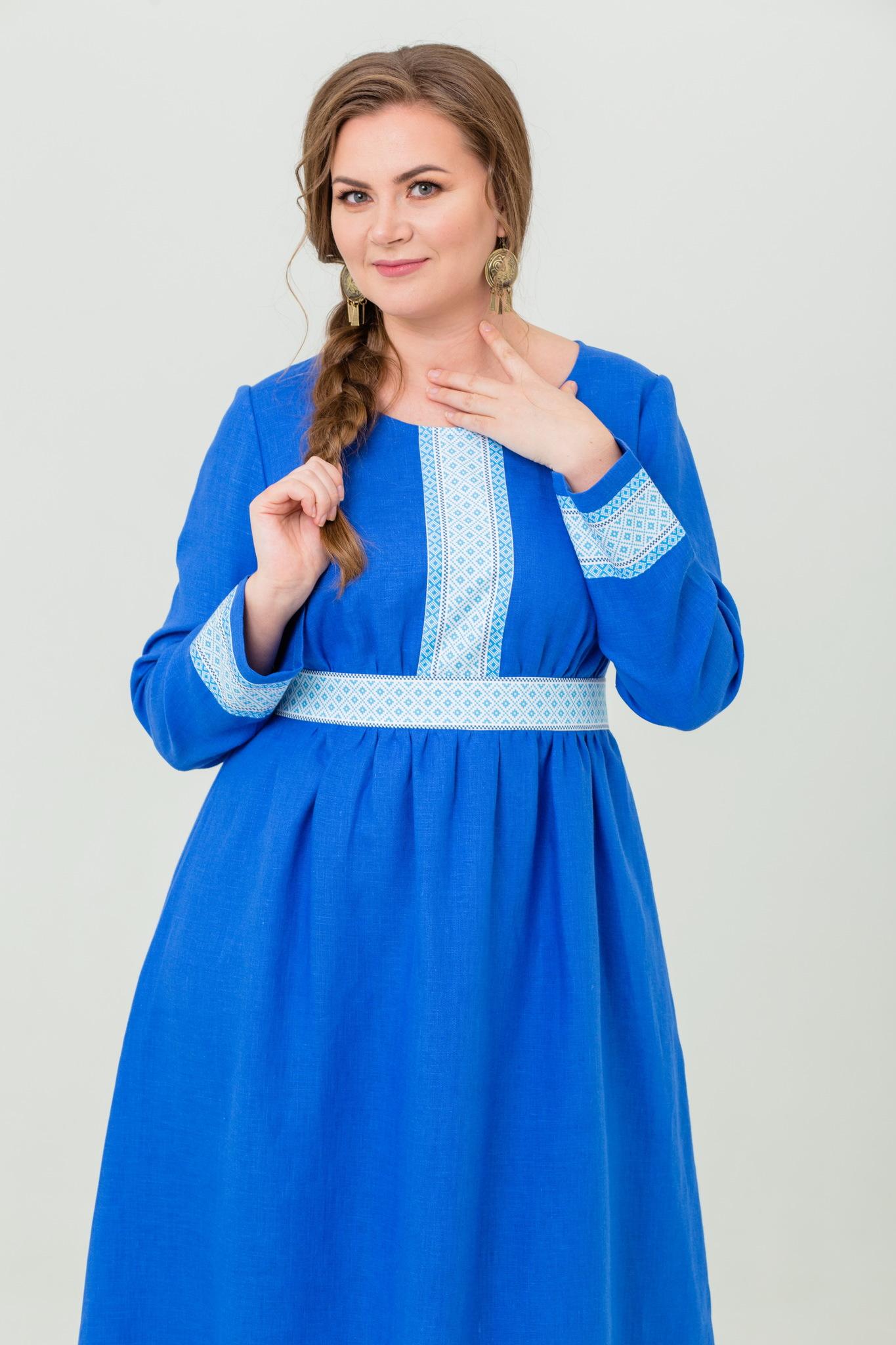 Платье льняное Процветание купить с доставкой